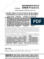 NCCT-2011 Java IEEE Software Project Abstracts, 2011-2012
