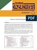 Tio2 Photo Catalysis