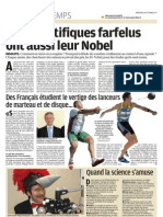 Les Prix IgNobel Improbables - Le Parisien - 26 octobre 2011