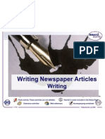writing newspaper articles