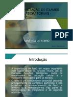 Interpretao de exames laboratoriais(CINÉTICA DO FERRO)