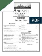 Angkor Restaurant Express Menu