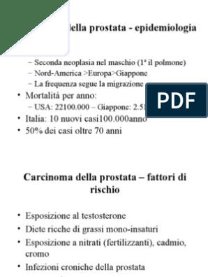 tumore prostata con interessamento linfonodi e polmoni