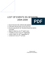 Extreme > List of Events in Session 2004