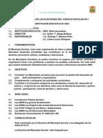 Plan de Trabajo de Las Elecciones Del Concejo Escolar 2011
