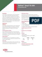 Zonyl Fs 300 Tech Data Sheet