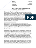 Groundwater Radiocarbon Dating Practical Applications
