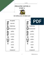 Spelling Level3 Unit01
