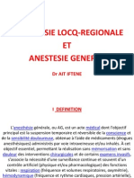 Anesthésie générale et locorégionale