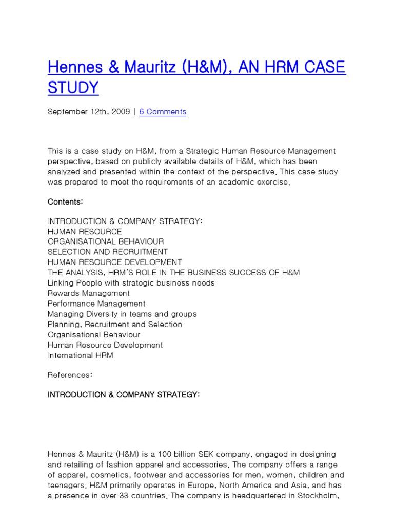 Hennes | Human Resource Management | Employment