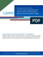 Position Paper on Marijuana as Medicine