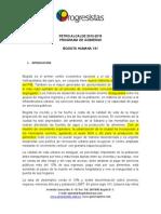Programa Gustavo Petro - Movimiento Progresistas