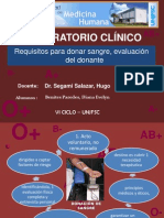 REQUISITOS PARA DONAR SANGRE, EVALUACIÓN DEL DONANTE