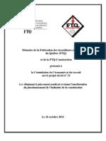 Mémoire de la FTQ et FTQ-CONSTRUCTION-projet de loi 33-le 26oct.2011-1