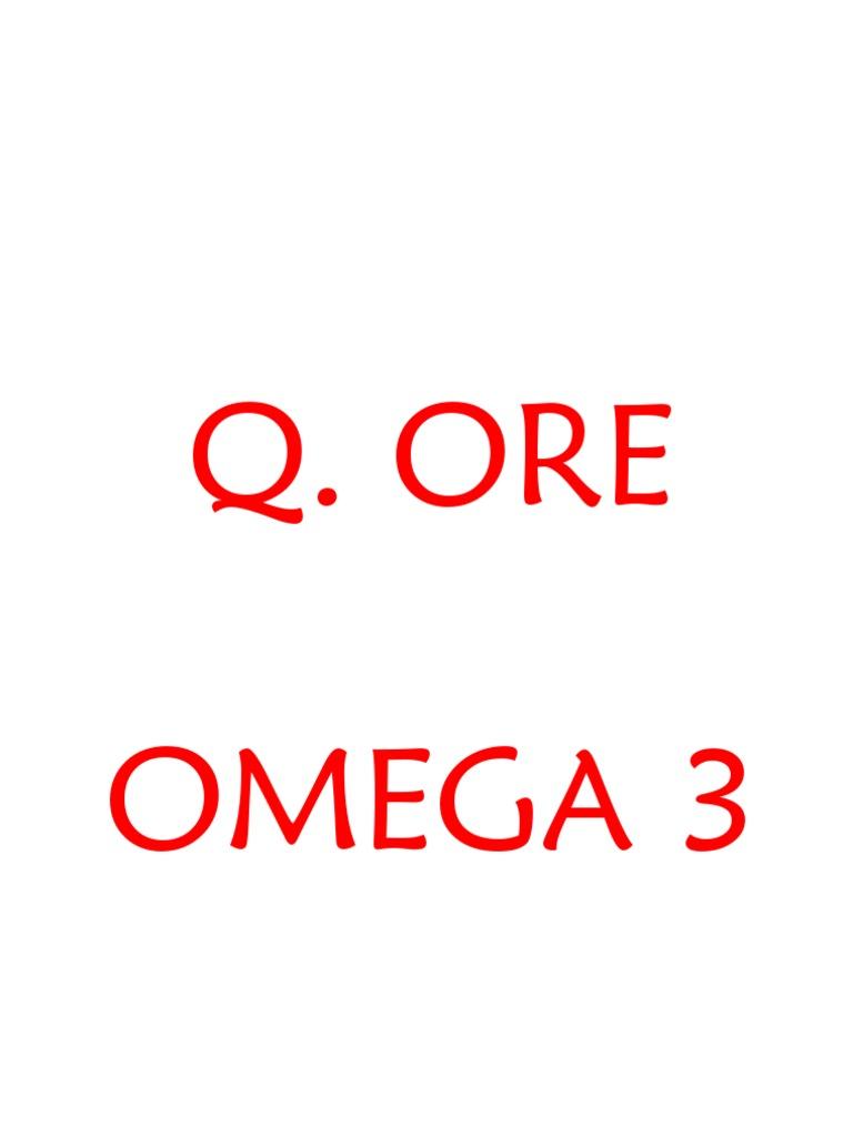 Omega 3 favorece la perdida de peso repentina