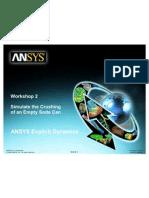 ANSYS Explicit Dynamics 120 Workshop 02