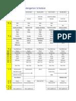 K Schedule