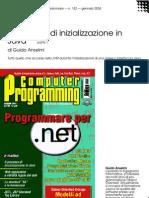 Il processo di inizializzazione in Java (prima parte)