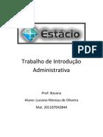 Trabalho de Introdução Administrativa