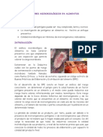 INDICADORES MICROBIOLÓGICOS EN ALIMENTOS