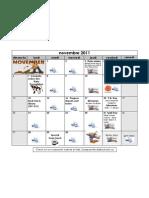 Novembre 2011 Calendar