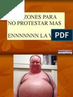4 Razones Para No Protestar