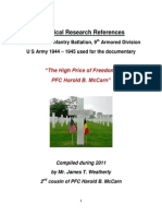 Historical References for PFC Harold McCarn