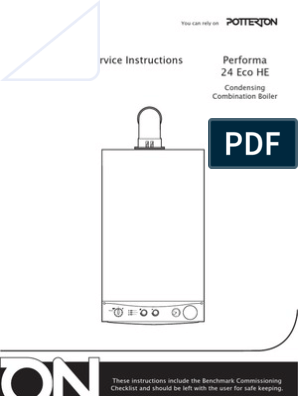 Potterton Performa 24 >> Potterton Performa 24 Eco He Installation And Service