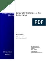 TDG Dbrief Bandwidth Challenges to the Digital Home Mar07