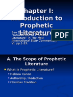 Chapter I Intro to Prophetic Literature