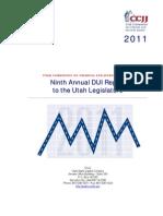 2011 DUI Annual Report to the Utah State Legislature