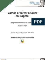 Programa Gustavo Paez - Partido de Integración Nacional (PIN)