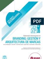 Tríptico Diplomado Internacional en Branding