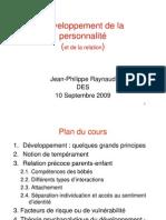 Developpement de La Personnalite Des 10-09-09