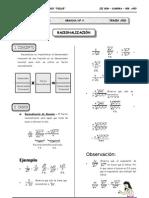 III BIM - 3er. Año - ALG - Guía 4 - Racionalización