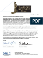 DRLC Annual FDR Dinner-Silent Auction Letter & Form