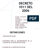 Decreto 1011 Del 2006