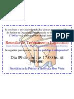 Cartaz do Treinamento Específico