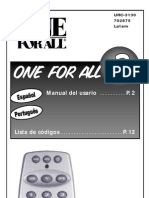 Manual One for All Urc 3130 - 41960963-URC3130-S
