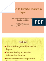 Climate Change Adaptation in Japan