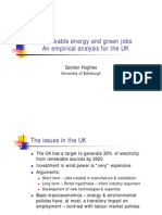Renewable Energy and Green Jobs in the UK