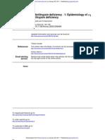 Alfa 1 Antitrypsin Deficiency Epidemiology of Alfa 1 Anti Trips In Deficiency