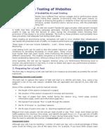 Load -Stress Testing of Websites