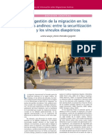 02. La gestión de la migración en los países andinos… Lorena Araujo, María M. Eguiguren
