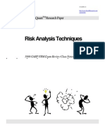 Risk Analysis Techniques