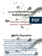 Syllabi on Economics and Business English