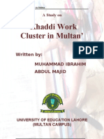A Study on Khaddi Work Cluster in Multan