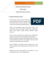 Proposal Rencana Usaha Batik