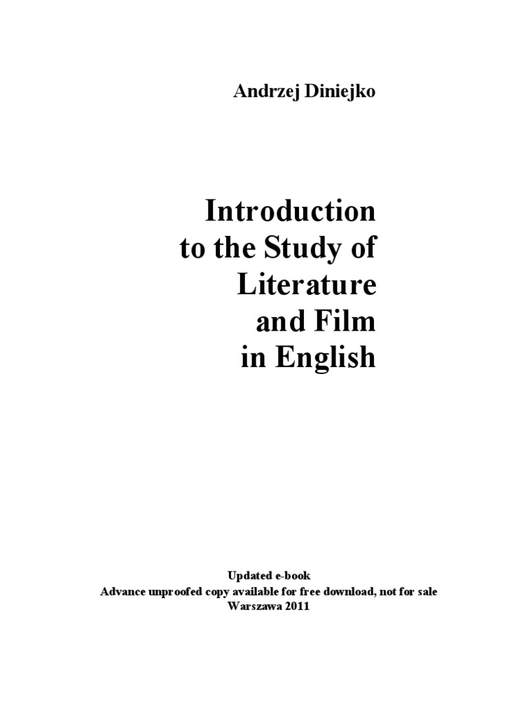 Intr To Stud Of Lit And Film Updated E Book 2011