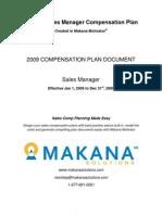 Sample Sales Manager Sales Comp Plan
